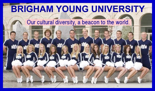 BYU diversity in cheer leaders.
