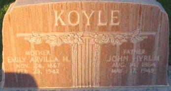 John Koyle's gravestone.