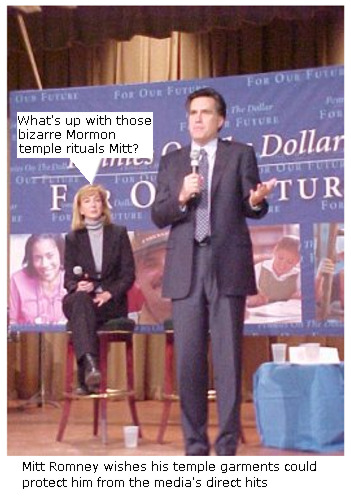 Mitt Romney shrugs off temple questions.