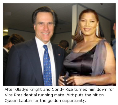 Mitt Romney and Queen Latifah.