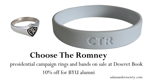 Choose the Romney presidential campaign ring and band.