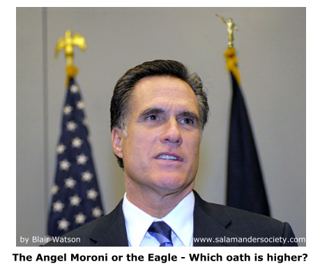 Mitt Romney, Angel Moroni, Eagle - Which oath is higher.