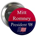 LDS Mormon Mitt Romney for President Button.