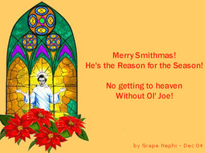 Smithmas Mormon LDS Joseph Smith Christmas craze.