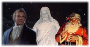 joseph smith jesus christ and santa claus - Jesus Santa