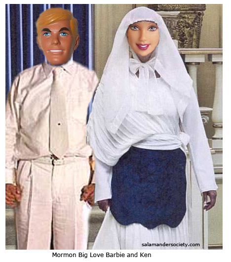 barbie and ken endowed mormon garments temple salamander